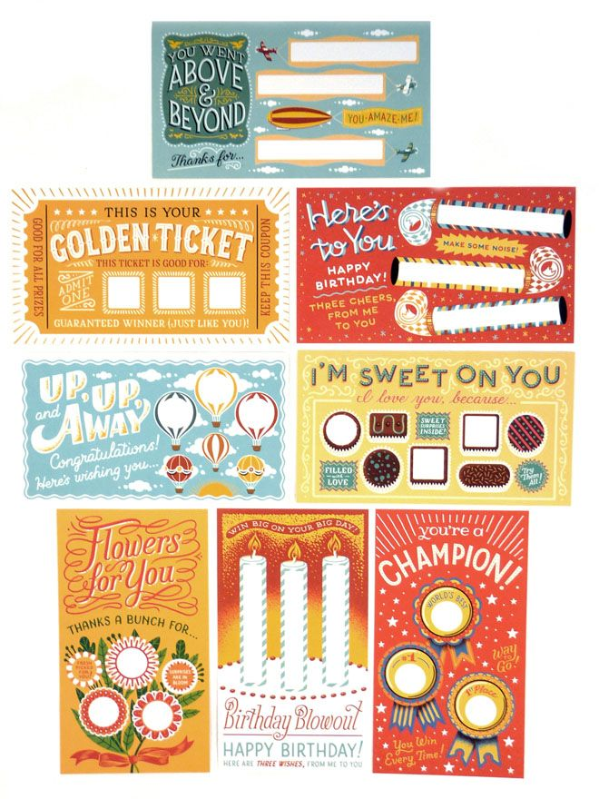 Free Birthday Lottery ~ Diy scratch off cards lucky you craft and sewing