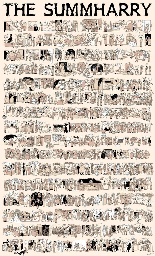 the whole story in one comic page. the-Burrow-The-Summharry-harry-potter