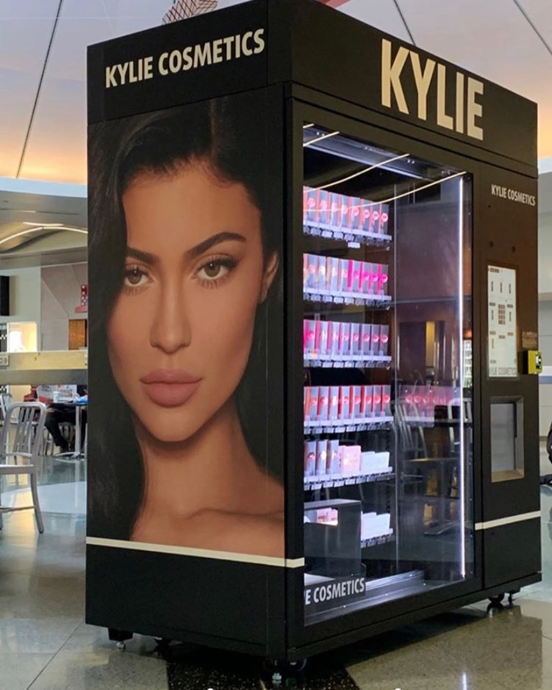 Kylie Cosmetics vending machine at the McCarren