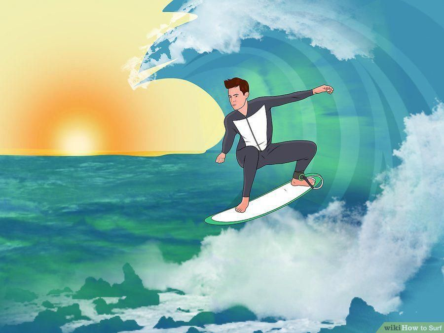 How To Surf With Pictures Wikihow Learnsurfing Surfing Pictures Surfing Mavericks Surfing