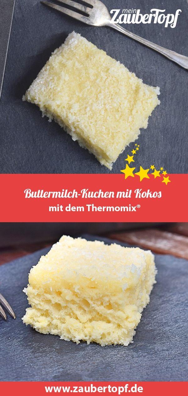 Buttermilch-Kuchen mit Kokos –Rezept für den Thermomix®