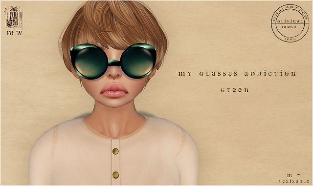 MiWardrobe - My glasses addiction - Green - (New!!) The Box Event by Neftisis Rhiadra - MiWardrobe Owner, via Flickr