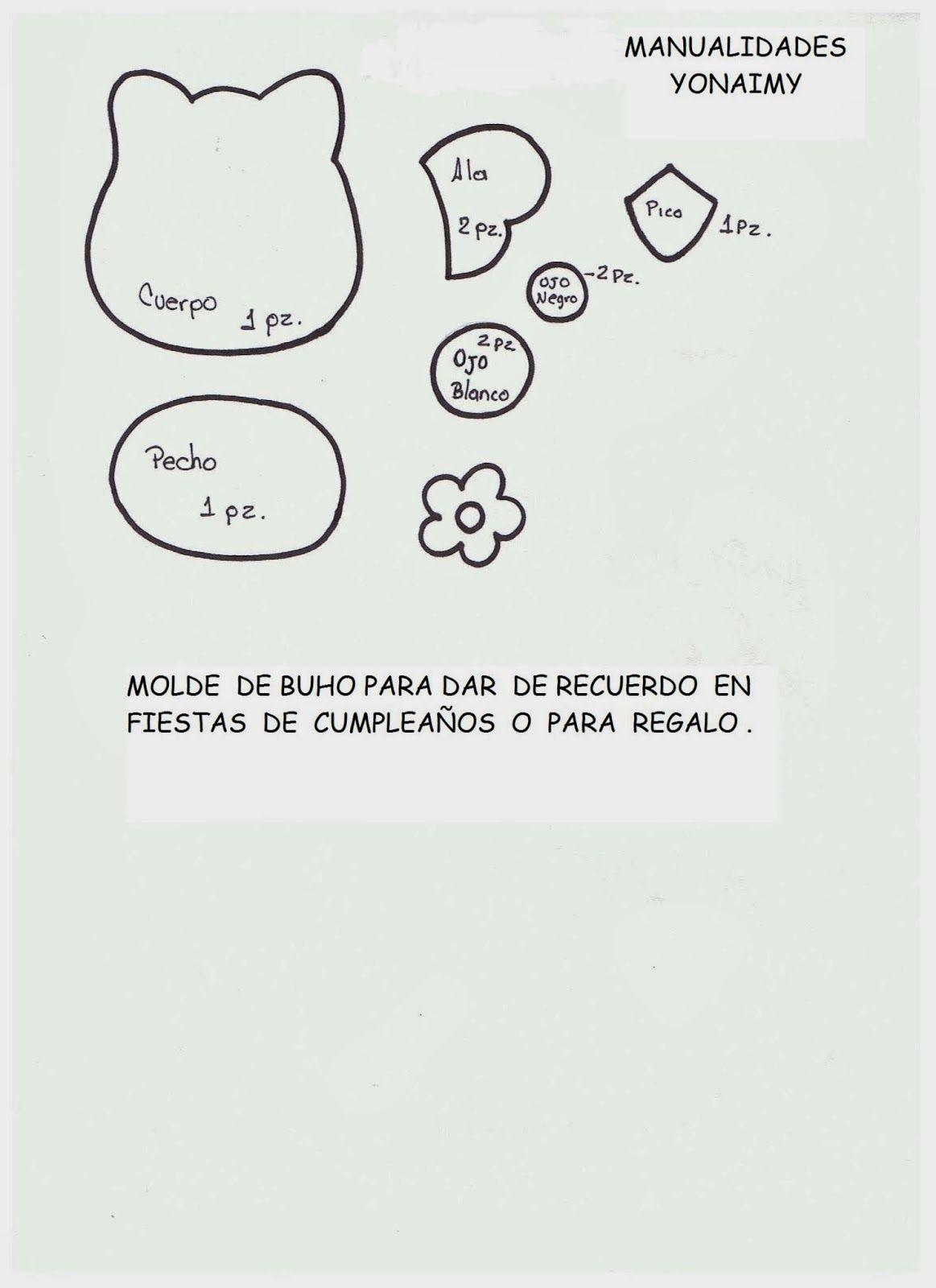 MANUALIDADES YONAIMY | Manualidades yonaimy, Buhos, Moldes de buhos