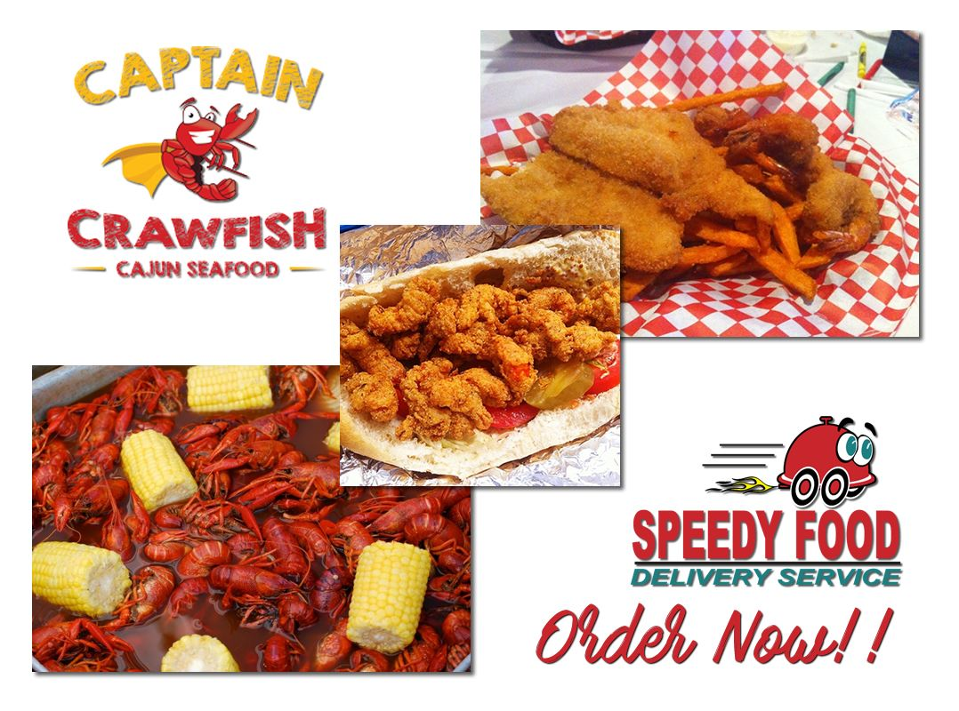We Would Like To Announce That We Are Partnered With The Captain Crawfish Restaurant At Katy Area Captain Crawfish Has A Great Food Net Food Food Delivery
