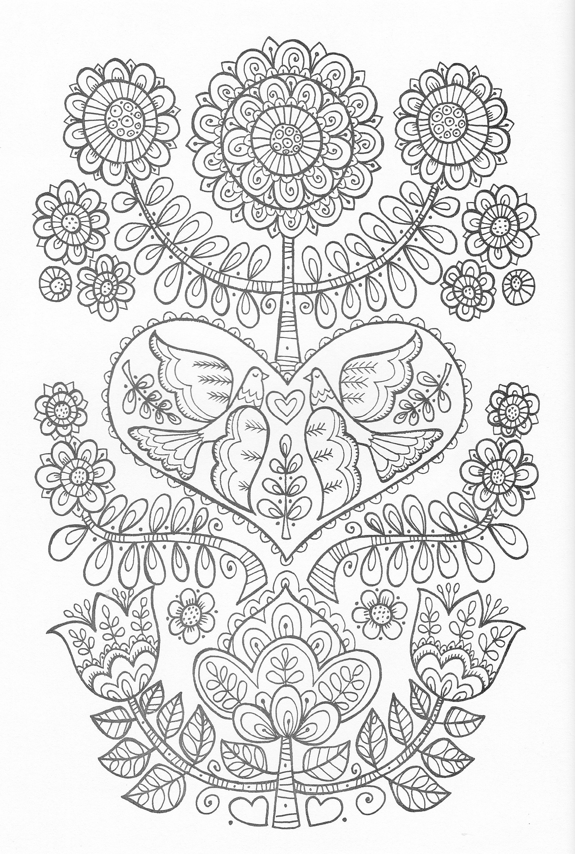 Scandinavian Coloring Book Pg 24 | bordado | Pinterest | Mandalas ...