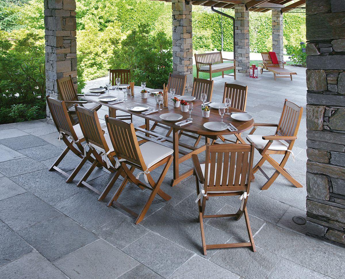 Tavoli Da Giardino Legno Prezzi.Tavolo Da Giardino Allungabile In Legno Di Acacia Malaga Tavolo