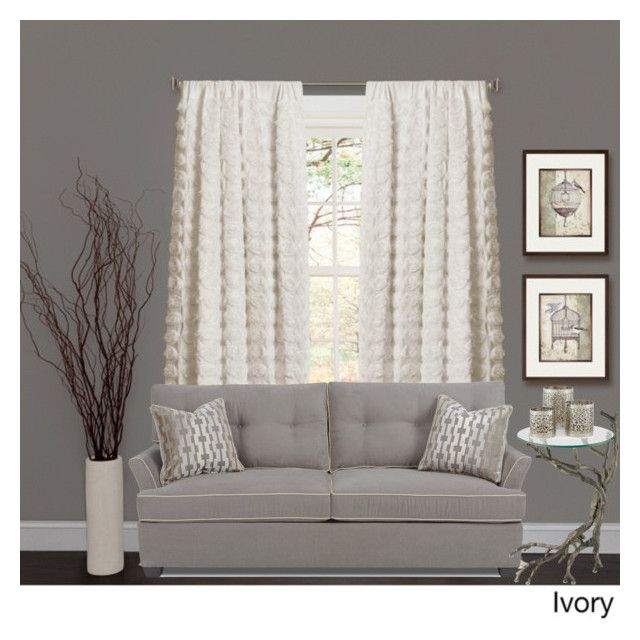 """Ivory"" by jennajordan97 on Polyvore featuring interior, interiors, interior design, home, home decor, interior decorating and Lush Décor"