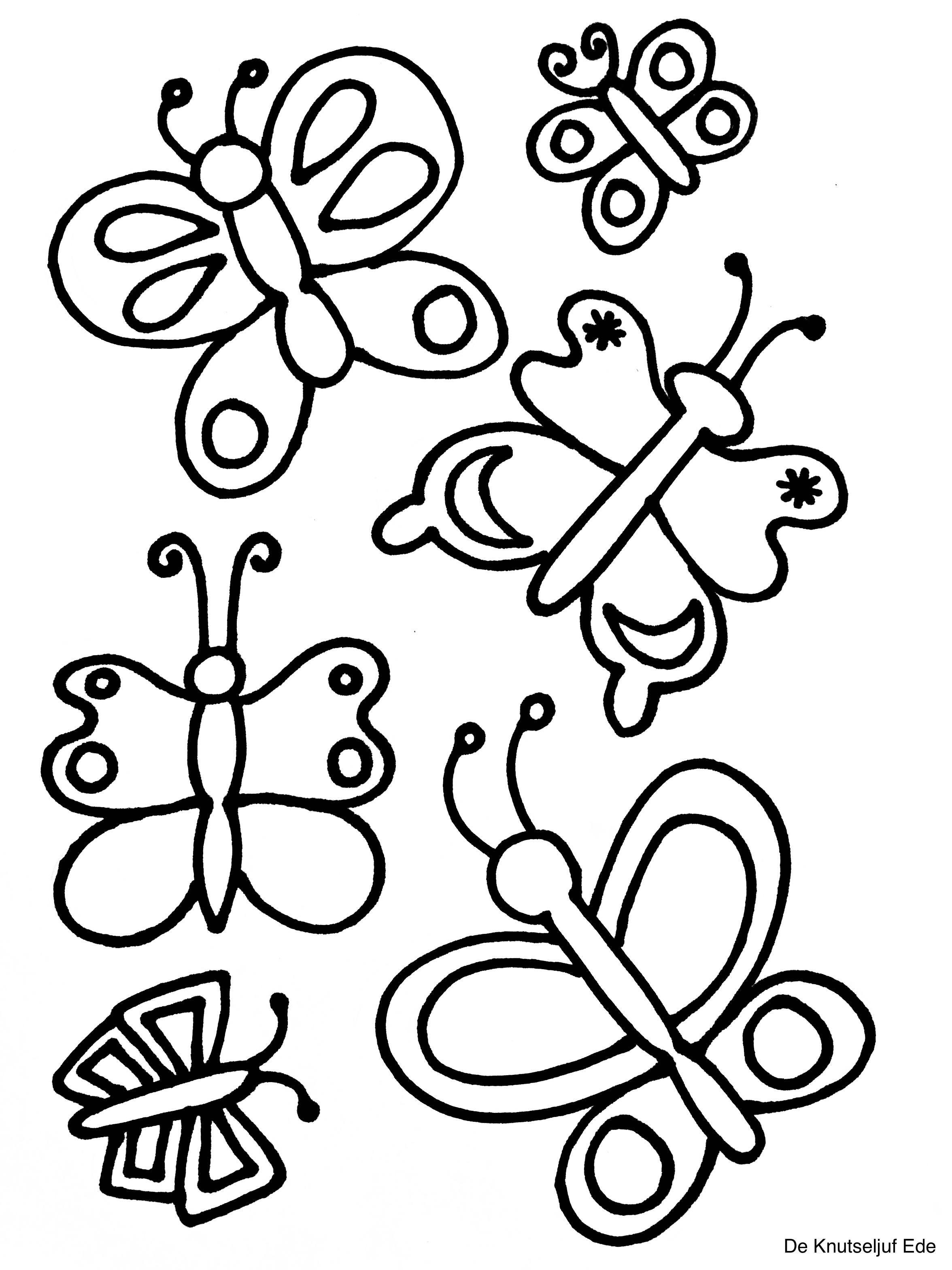 eitje tot vlinder kleurplaten kleurplaat