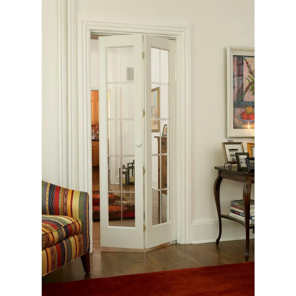 Pinecroft 30 in. x 80 in. Optique Decorative Frosted Glass with Solid Core Unfinished Pine Wood Bi-fold Door  sc 1 st  Pinterest & Pinecroft 30 in. x 80 in. Optique Decorative Frosted Glass with ...