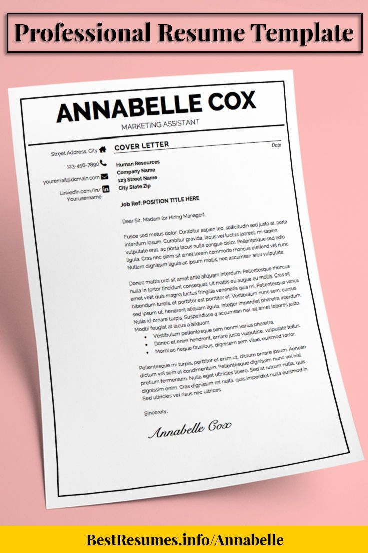 Resume Template Annabelle Cox  Cover Letter Resume Job Resume And
