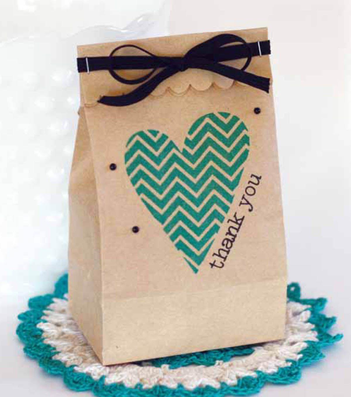 Make Your Own Wedding Gift: Make Your Own Chevron Heart Bag