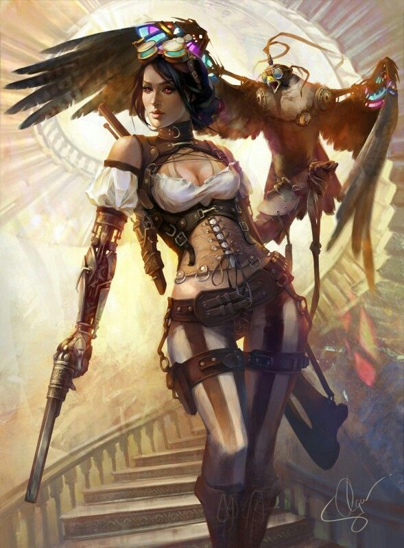 Steam punk adventuress. Can't recall where I found this :(