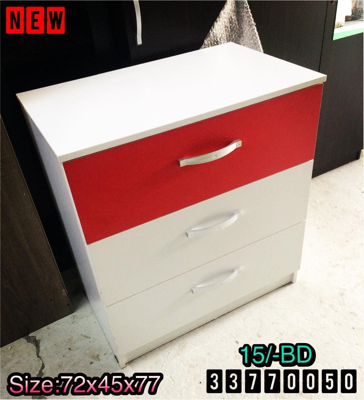 For Sale Drawer Cabinet Size 72x45x77 Wood White Red Color New Price 15 Bd للبيع كبت ادراج خشب لون ابيض واحمر جديد السعر Drawers Cabinet Color