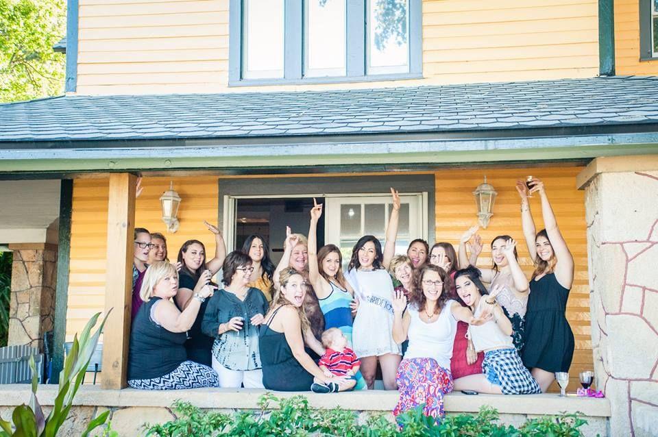 Harbor House Bridal Shower Group Shot on Front Porch