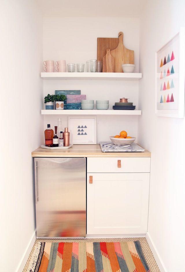 kitchenette pas cher déco studio petite cuisine Pinterest