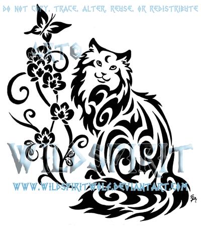 Cat And Butterfly Tattoo by WildSpiritWolf.deviantart.com ...