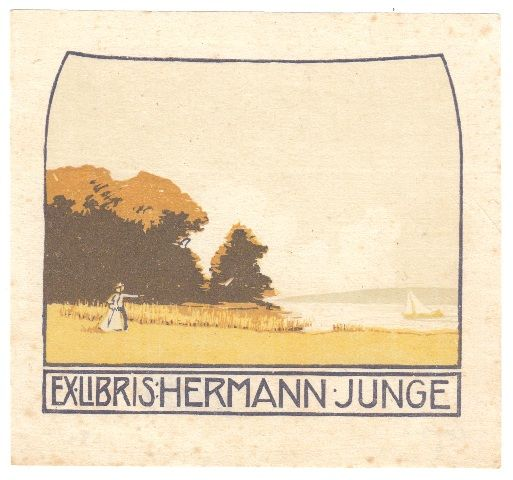 Bookplate by Alfred Peter for Hermann Junge, ????