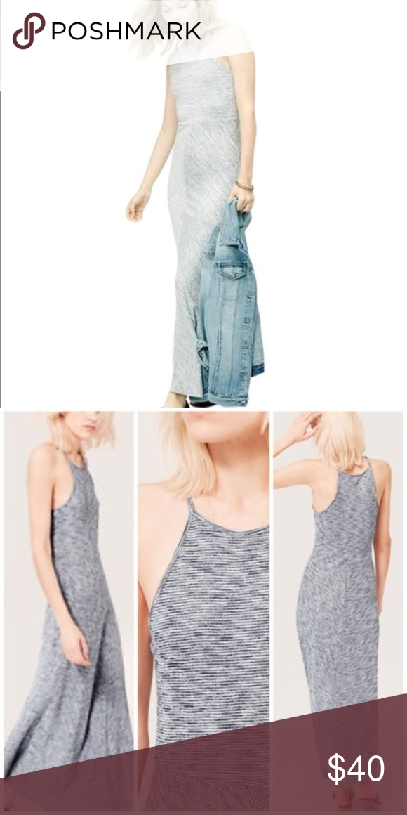dfd67b81bb2 LOFT Lou   Grey Spacedye Heather Maxi Dress
