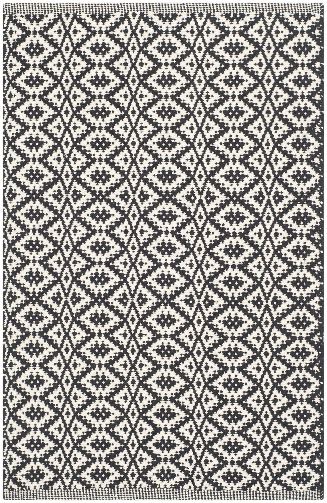 Montauk Ivory/Black Area Rug