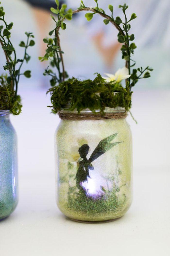 1001 inspirations pour une d coration de jardin faire soi m me bocaux de verre d corations. Black Bedroom Furniture Sets. Home Design Ideas