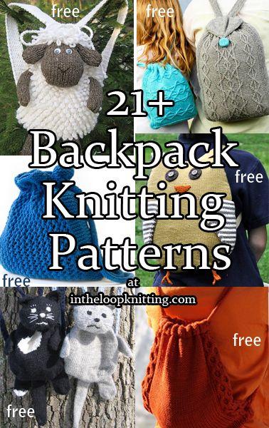 Knitting Patterns For Backpacks Knapsacks Rucksacks Most Patterns
