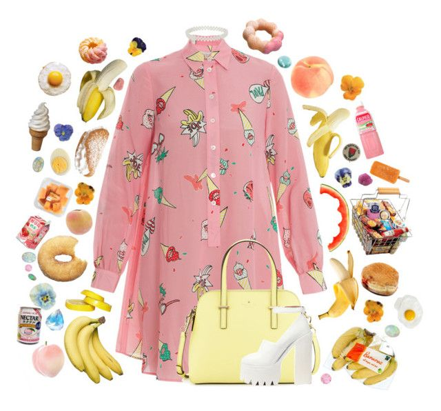 """""""Banana split"""" by smile-for-the-photo on Polyvore featuring Paul & Joe, Kate Spade, Miss Selfridge, Jeffrey Campbell, FRUIT and LIST"""