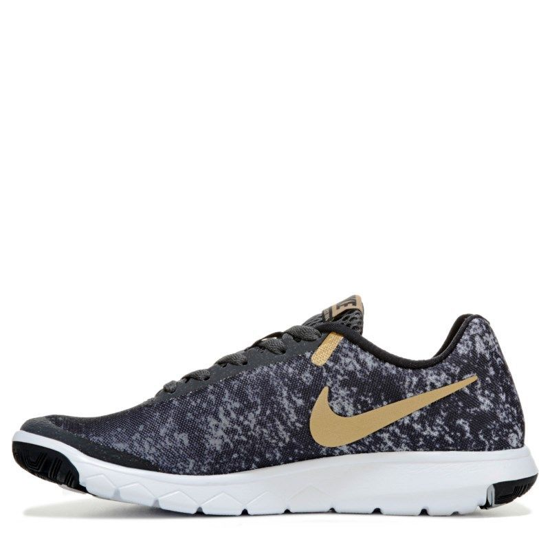 Nike Women s Flex Experience RN 6 Running Shoes (Black   Gold) 56850be8d83c