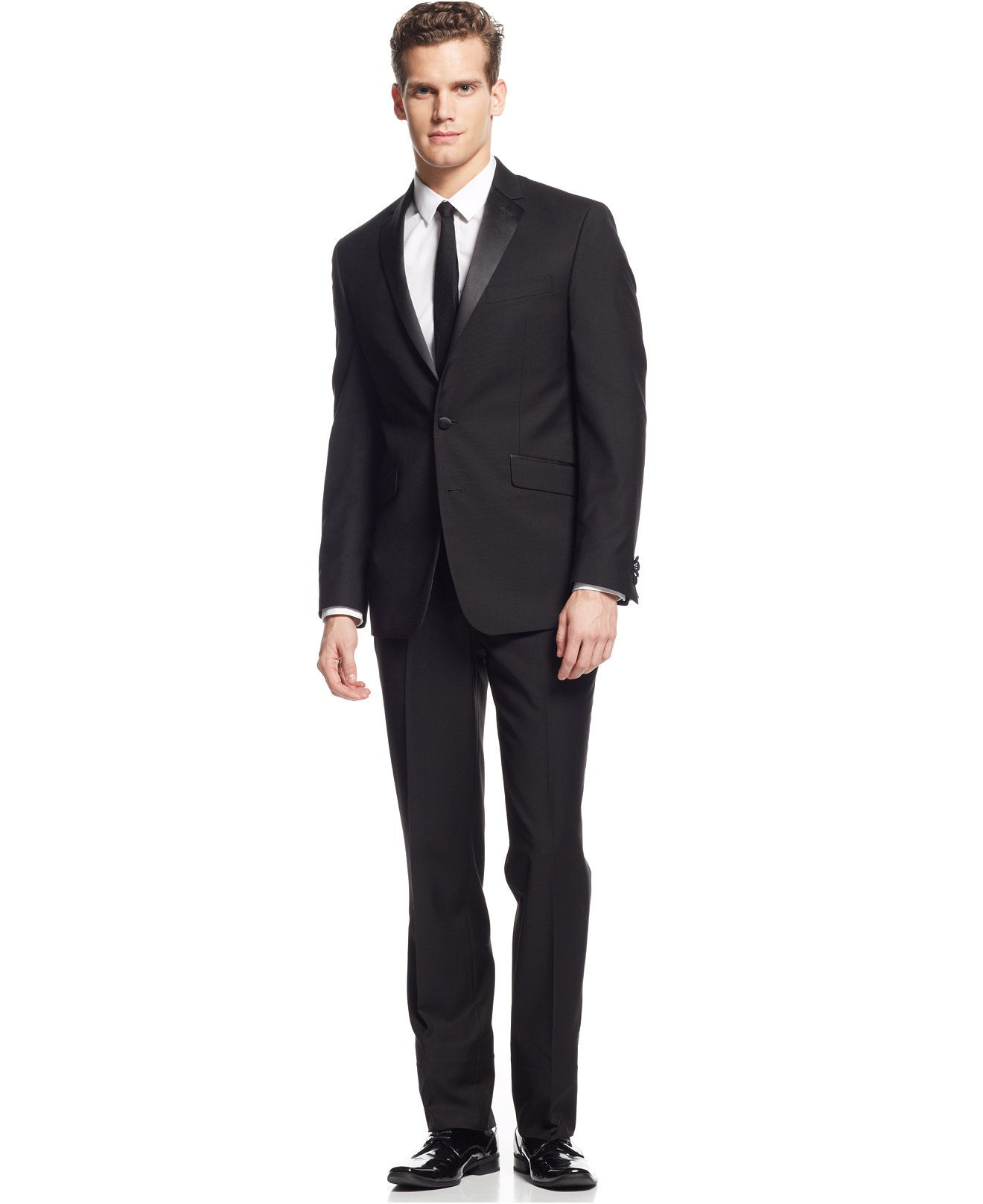 372abca79b Kenneth Cole Reaction Slim-Fit Black Tuxedo - Suits   Suit Separates - Men  - Macy s