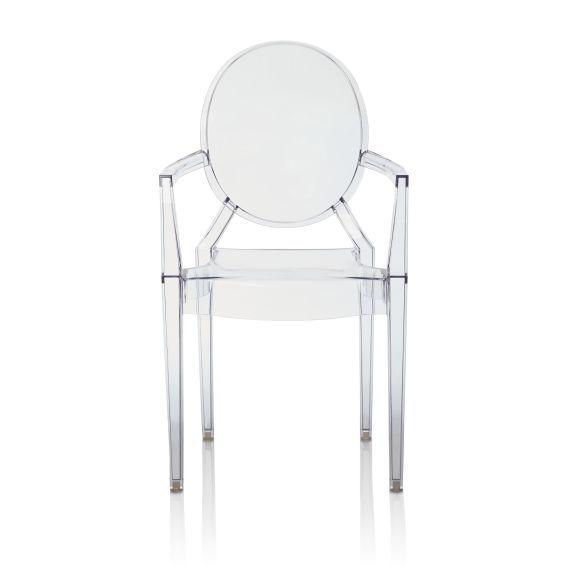 Stuhl Louis Ghost Designed By Philippe Stark Polycarbonat Vorderansicht Stuhle Esszimmerstuhle Modern