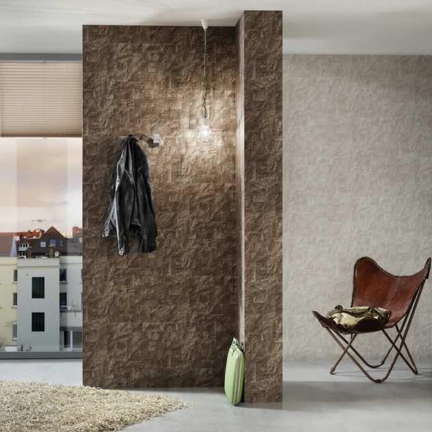 P+S International - Origin Braun Tapete Einrichten und Wohnen - tapeten wohnzimmer braun