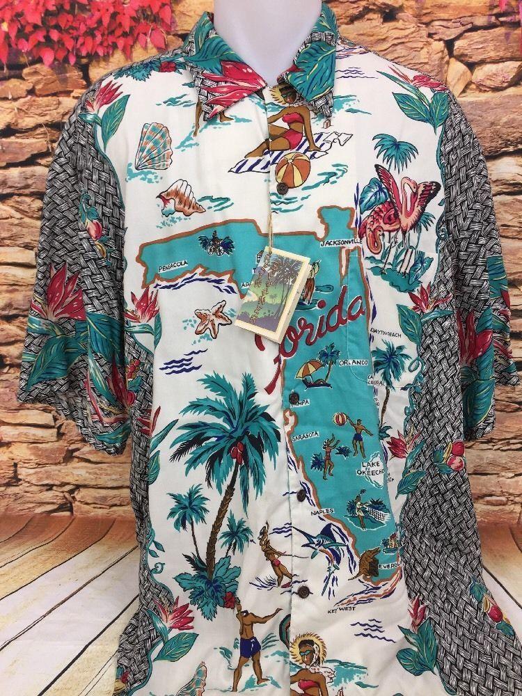 REYN SPOONER Mens Sunshine State Florida Map Classics Aloha ...