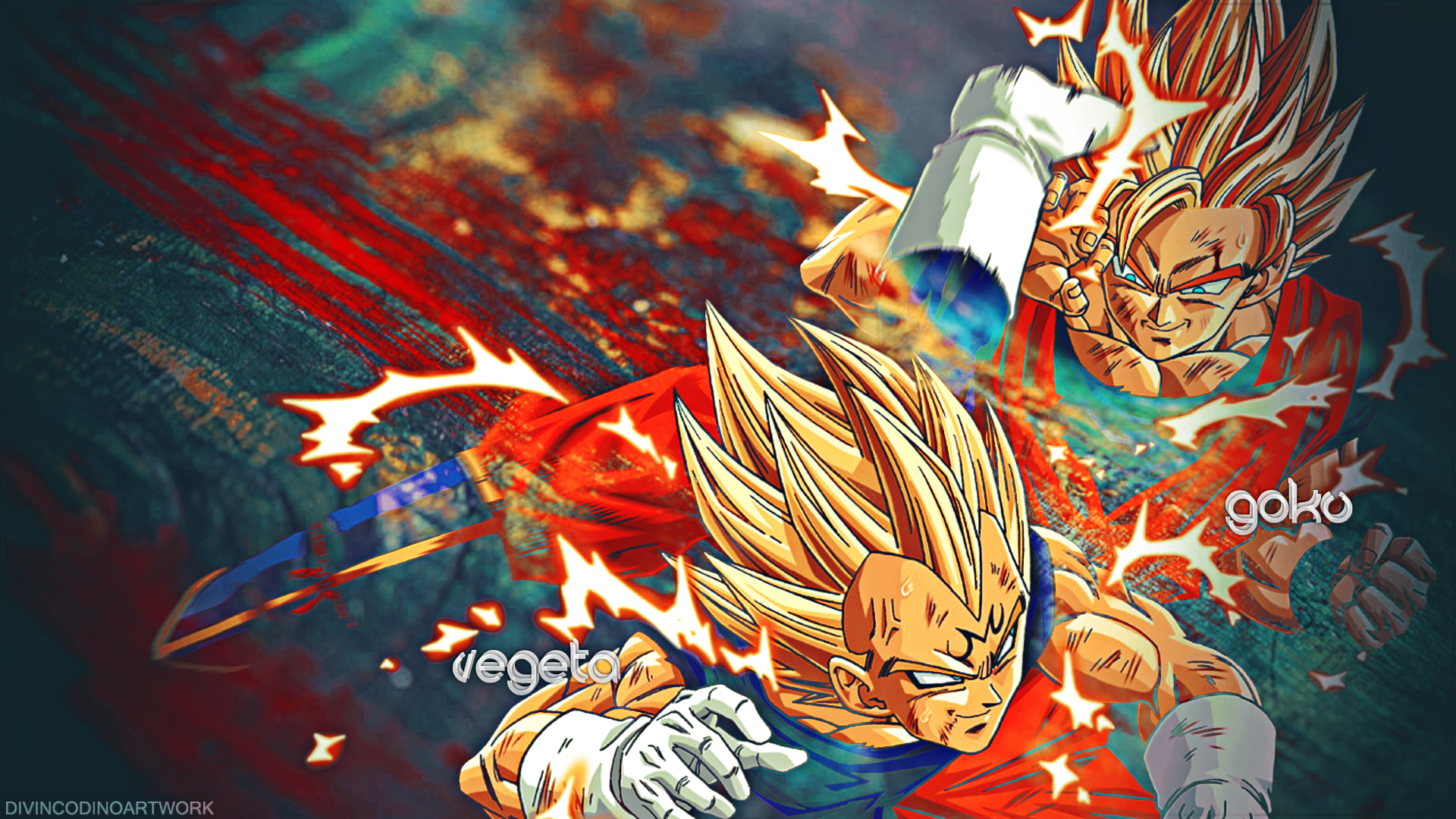 dragon ball z vegeta and goku hd wallpapers | anime | pinterest