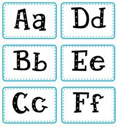 Free Printable Word Wall Letters