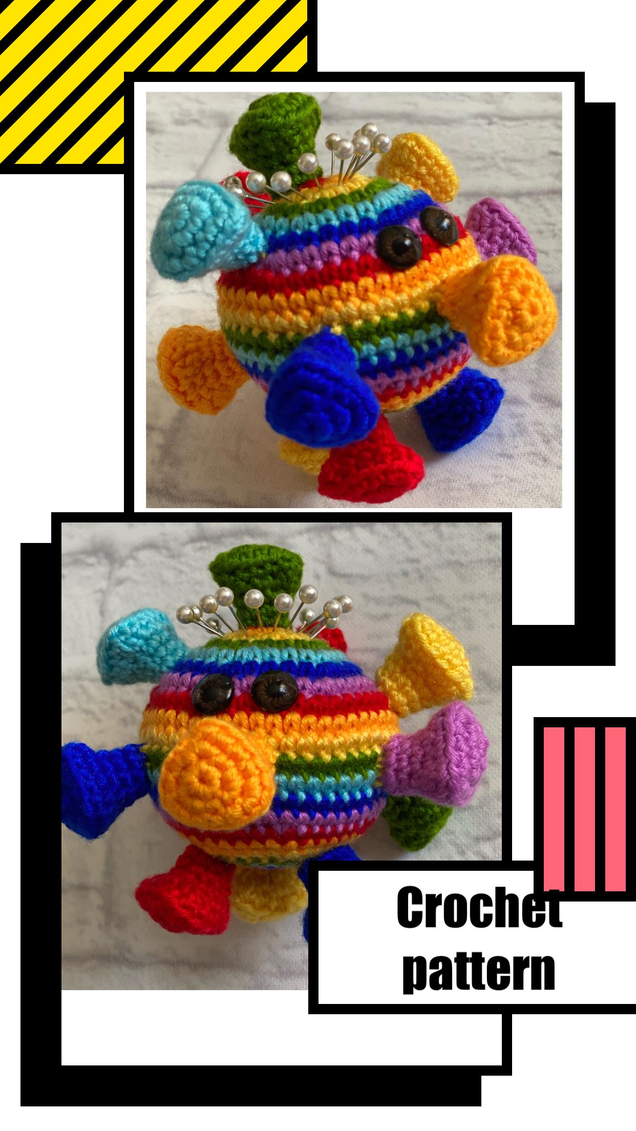 English Crochet pattern «Anti stress» pin cushion \ Crochet