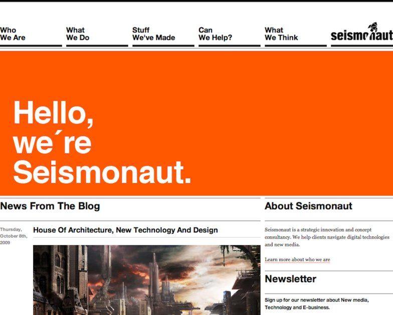 Seismonaut Aarhus Web Grid Design Swiss Design