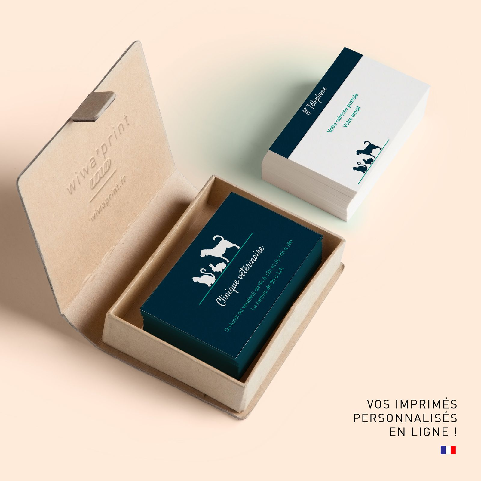Carte De Visite Veterinaire Cartes Graphic Design Animaux Chiens Chats