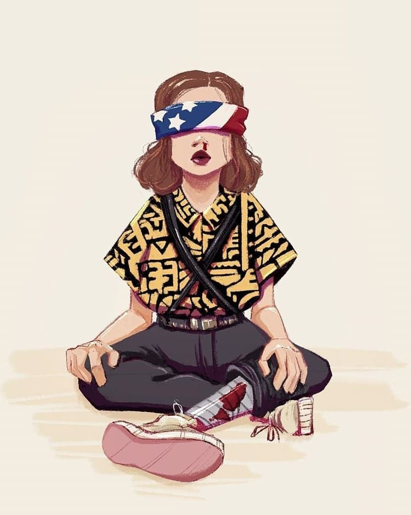 Stranger Things Eleven By Sasha Skilledbean Millie Bobby Brown Season 3 Fanart Dibujos De Chicas Kawaii Fondos De Pantalla De Peliculas Dibujos De Famosos