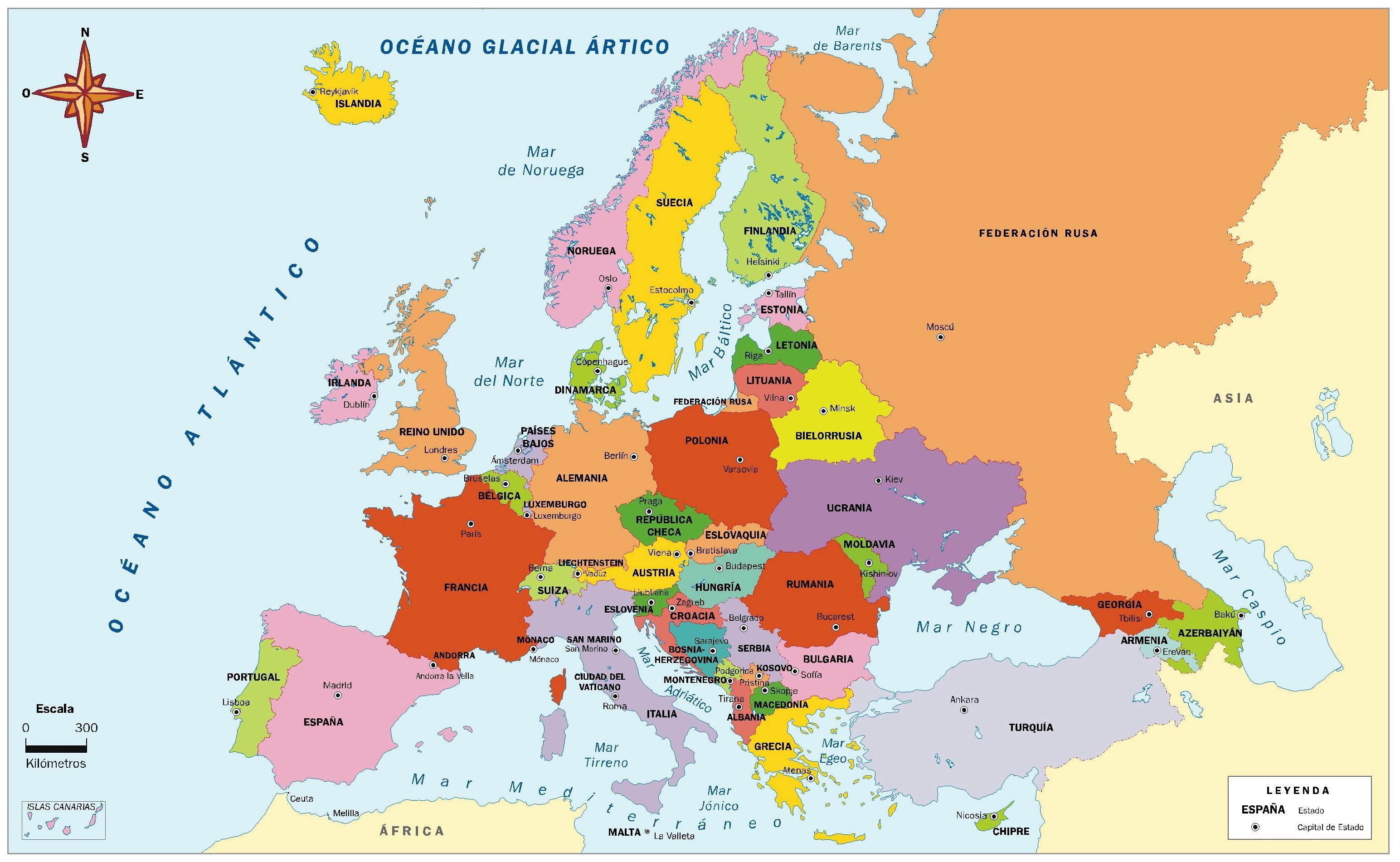 Europa Con Imagenes Mapa De Europa Mapa Politico De Europa