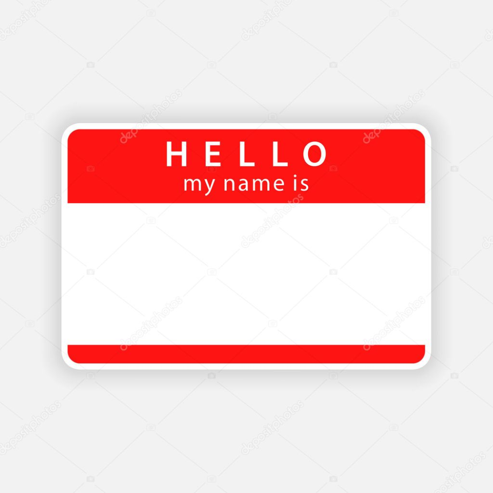 Clipart Red Name Tag Clip Art Red Name Tag Empty Sticker Hello My Name Is With Drop Gray Shadow On White Background Vect Elements Of Art Clip Art Red Names