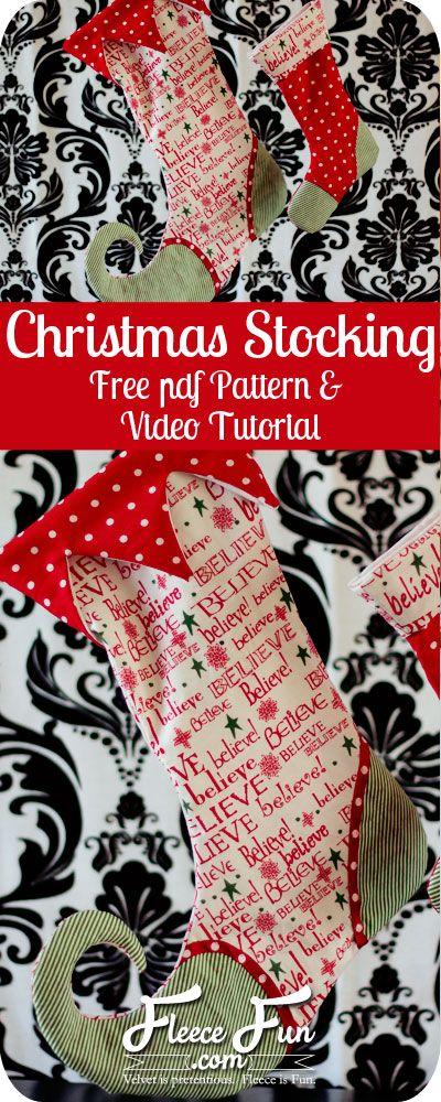 Christmas Stocking How To | Weihnachten, Nähen und Weihnachtssocken