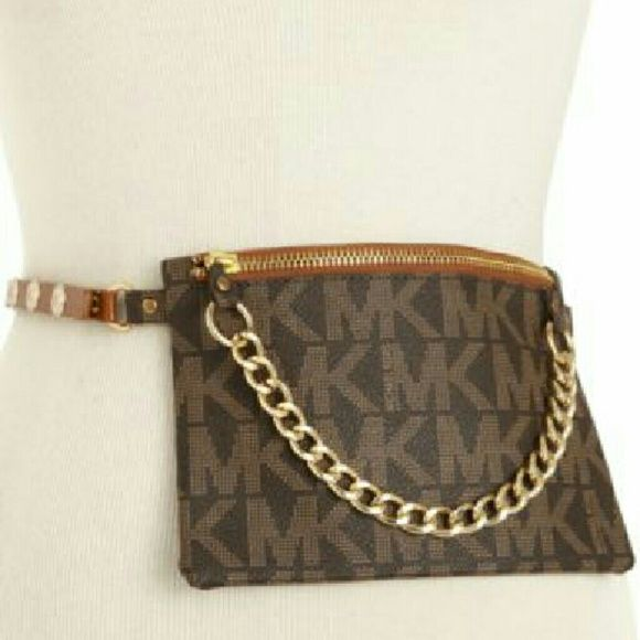 Michael Kors Pull Chain Belt Bag MK belt bag is a premium option for going  hands-free and looking fab at the same time. Belt has a 3-button snap  closure. f99b009e4bc0c