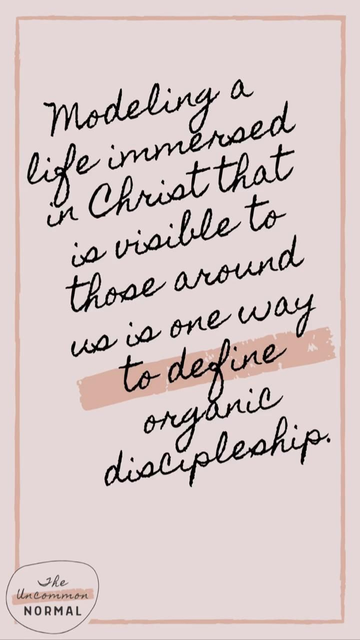 From Friendship-Building to Organic Discipleship | The Uncommon Normal