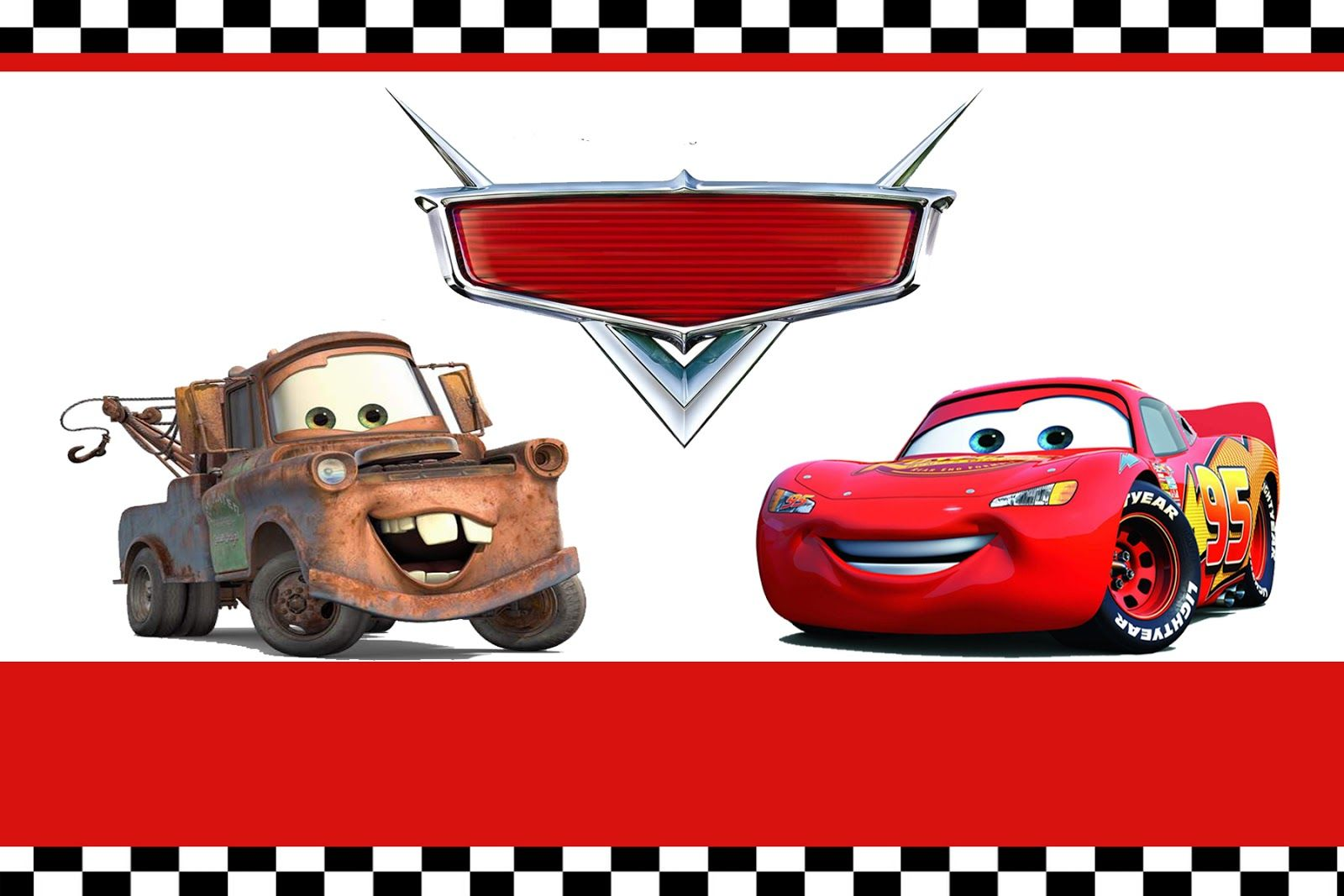 Free Printable Disney Cars Birthday Party Invitations Templates