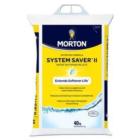 Shop Morton 40 Lb Salt Pellets At Lowes Com Water Softener Salt Softener Salt Water Softener