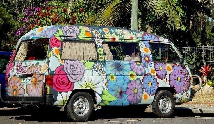 Account suspended flower power hippie van hippie bus