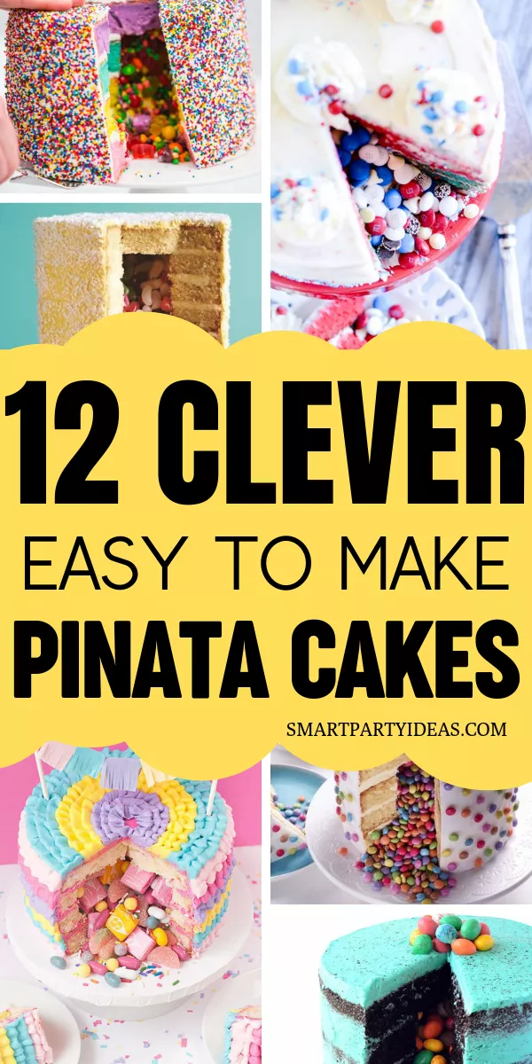 Photo of 12 Clever Surprise Pinata Cakes – Smart Party Ideas