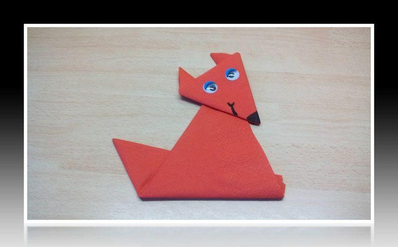 Top 💘 Servietten falten Fuchs 👈 - einfach animal Tier anleitung #QP_78