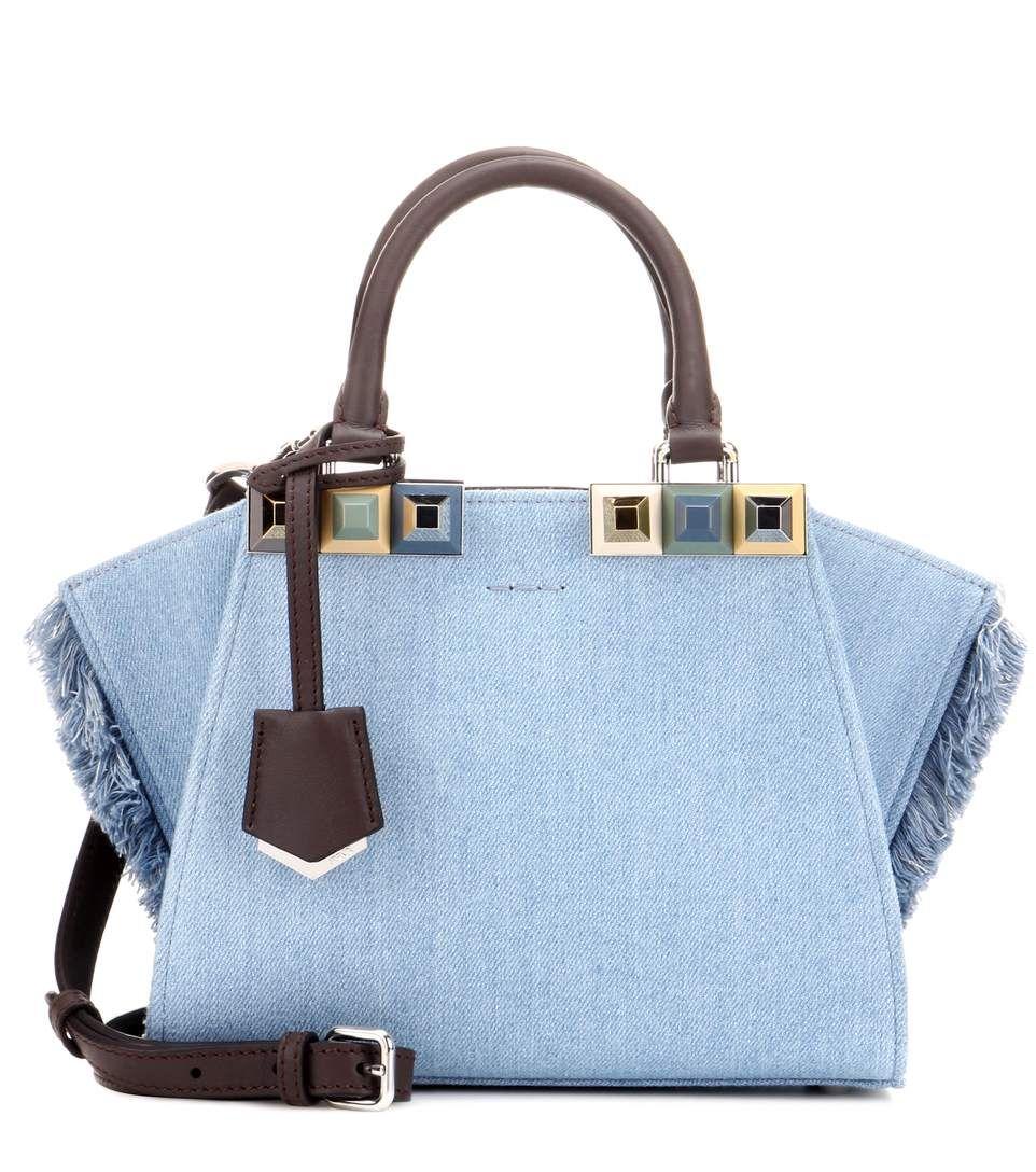 3d09e13ec84f FENDI 3Jours Mini denim tote.  fendi  bags  tote  leather  lining  denim  shoulder  bags  hand bags