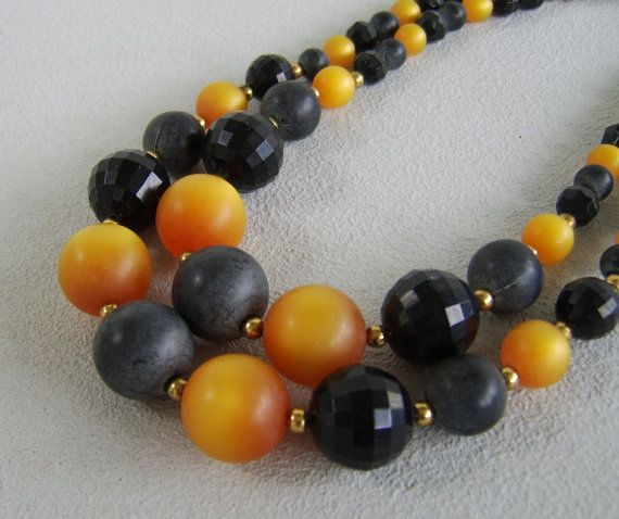 Vintage Celluloid Moonglow Necklace Grey Gold by uncommonvintage, $31.00