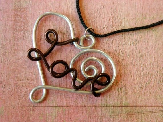 Wire Jig Patterns | ... Heart Necklace Anodized Aluminum Wire by ...